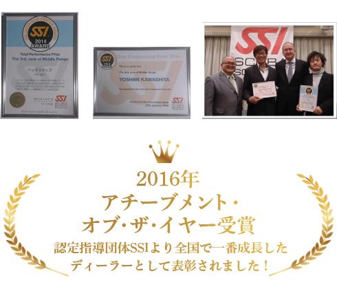 2016年アチーブメント・オブ・ザ・イヤー受賞